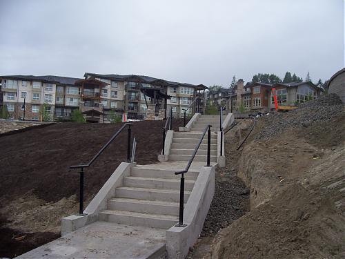 Landscape stair railing