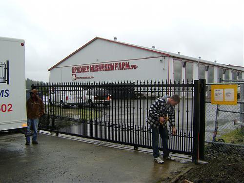 Stylish Cantilever Driveway Gate