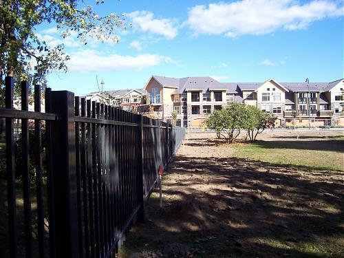 Steel fence railing